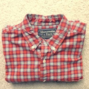 Abercrombie and Fitch men's plaid shirt - M